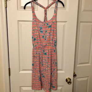 Lilly Pulitzer Braided T-Back Sundress, Size M